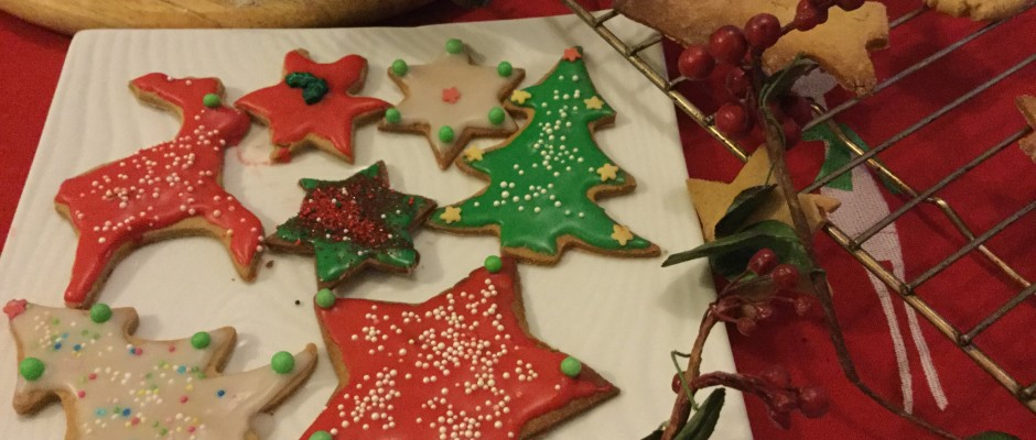 Christmas  baking and Santa colours