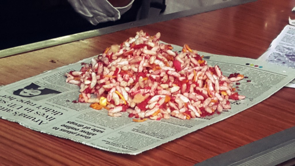 Food walk beetroot bhel