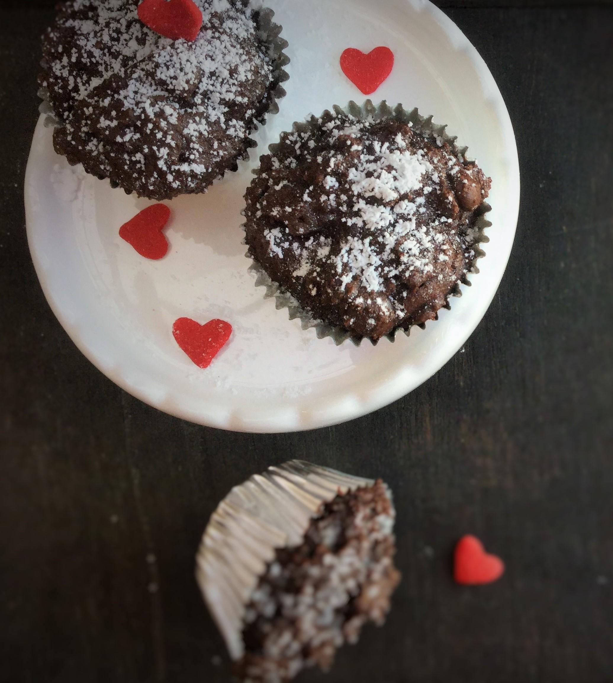 Dark Chocolate Muffins ( Valentine's special)