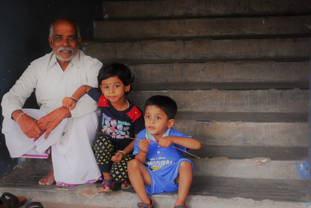 Sandhai day out with grandpa