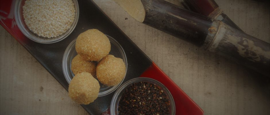 Sesame seed balls (ellu urundai)