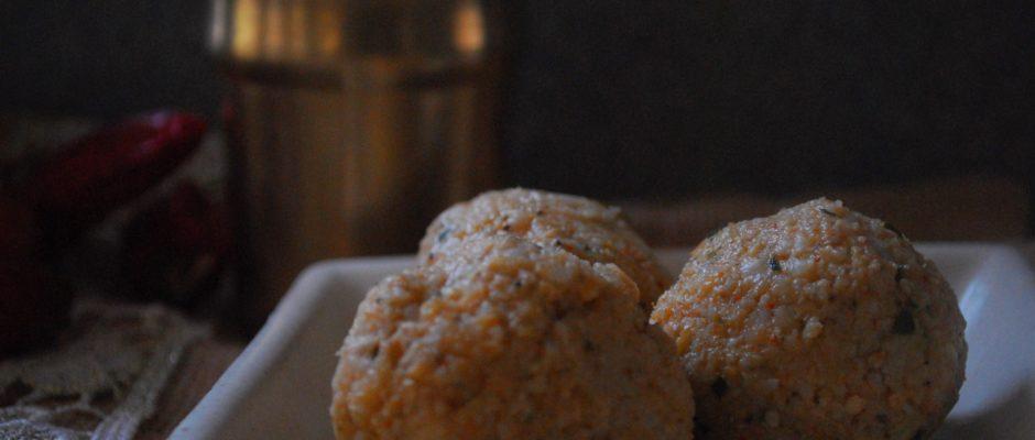 Sola sappadu (Sorghum balls)